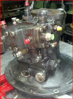 reparation probleme pompe hydraulique komatsu PC75